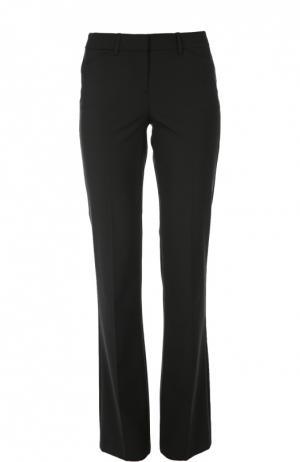 Расклешенные брюки с карманами и стрелками Theory. Цвет: черный