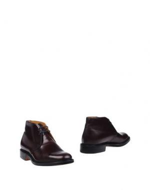 Полусапоги и высокие ботинки CHURCH'S. Цвет: баклажанный