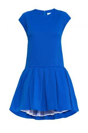 Платье из хлопка 160673 Infinee. Цвет: синий