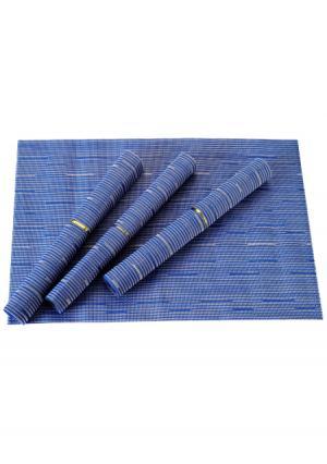 Набор салфеток для сервировки стола EDEN (4 шт.) Gipfel. Цвет: серый, синий (голубой)