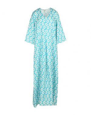 Длинное платье CAMICETTASNOB. Цвет: лазурный