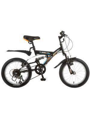 Велосипед 16 DART 5-скор. NOVATRACK. Цвет: черный