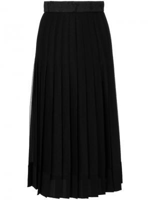 Плиссированная юбка с завышенной талией Dolce & Gabbana. Цвет: чёрный