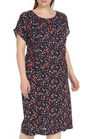 Цветное платье прямого кроя Shalle. Цвет: цветной