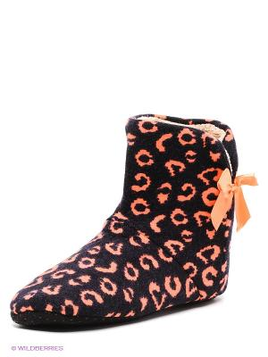 Тапочки-носки Burlesco. Цвет: черный, оранжевый