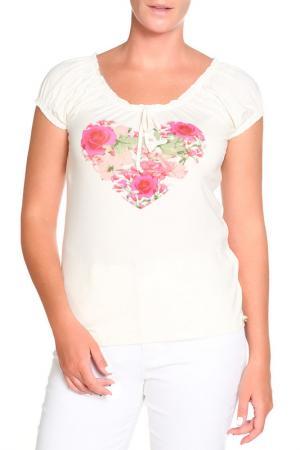 Блуза LOLA PALTINGER. Цвет: кремовый