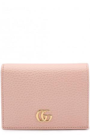 Кожаный футляр для кредитных карт Gucci. Цвет: розовый