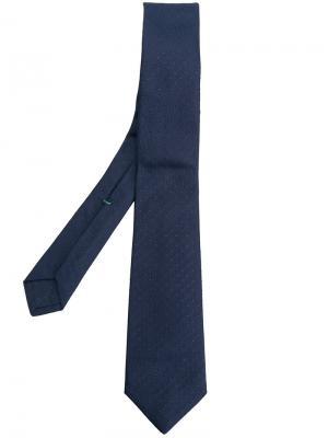 Жаккардовый галстук в горох Borrelli. Цвет: синий