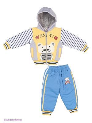 Комплект Happy Bear. Цвет: голубой, желтый