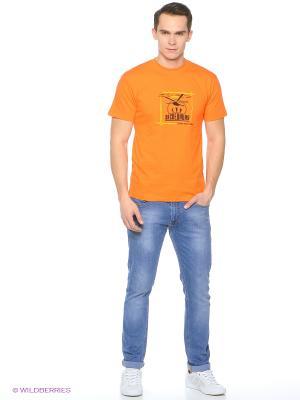 Футболка Экспедиция. Цвет: оранжевый