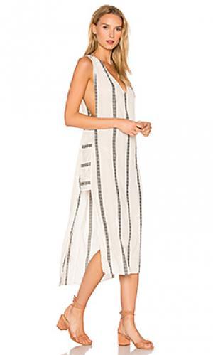 Длинное платье в полоску luanna Vix Swimwear. Цвет: ivory