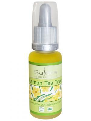Регенерирующее масло для лица Лимон-Чайное дерево 20 мл Saloos. Цвет: белый