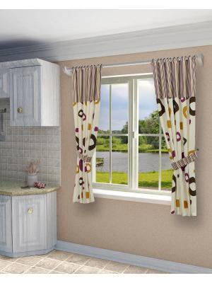 Комплект штор SANPA HOME COLLECTION. Цвет: лиловый