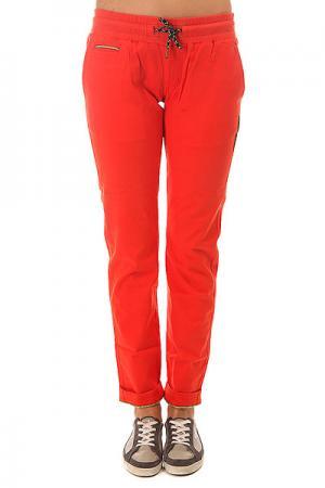 Штаны прямые женские  Flume2 Red Picture Organic. Цвет: оранжевый