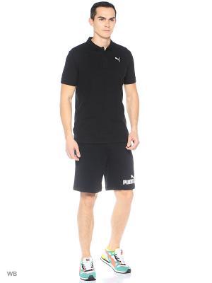 Футболка-поло ESS Pique Polo Puma. Цвет: черный