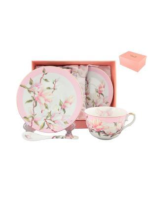 Чайная пара Орхидея на розовом Elan Gallery. Цвет: розовый, белый
