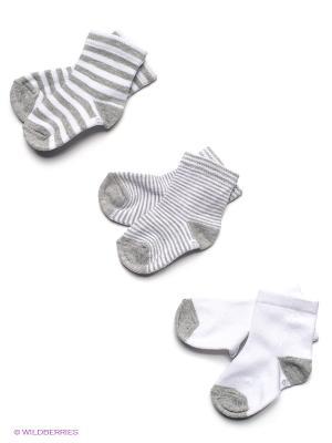Носки PERA MAYA. Цвет: серый, белый
