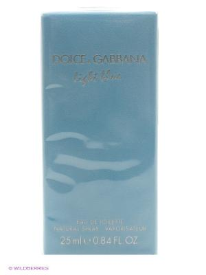 Туалетная вода Dolce&Gabbana Light Blue, 25мл. DOLCE & GABBANA. Цвет: голубой