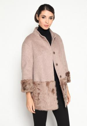 Пальто Prima Woman. Цвет: бежевый