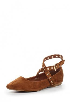 Туфли BelleWomen. Цвет: коричневый