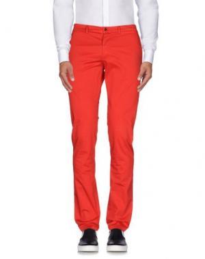 Повседневные брюки YOON. Цвет: красный