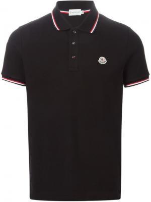 Классическая футболка-поло Moncler. Цвет: чёрный