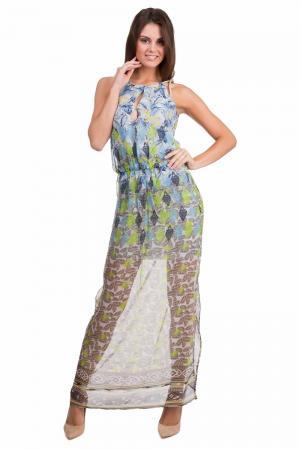 Длинное платье Massimo Rebecchi. Цвет: разноцветный