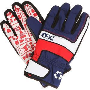 Перчатки сноубордические  Gloom Dark Blue Picture Organic. Цвет: красный,синий,белый