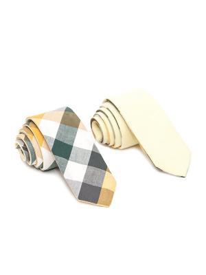 Галстук Churchill accessories. Цвет: зеленый, хаки, оливковый, салатовый, серо-зеленый, оранжевый, горчичный, золотистый, желтый, белый
