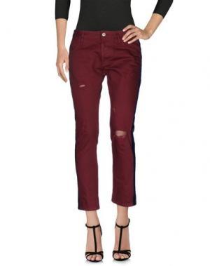 Джинсовые брюки MAURIZIO MASSIMINO. Цвет: красно-коричневый