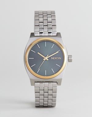 Nixon Серебристые часы-браслет A1130 Medium Time Teller. Цвет: серебряный