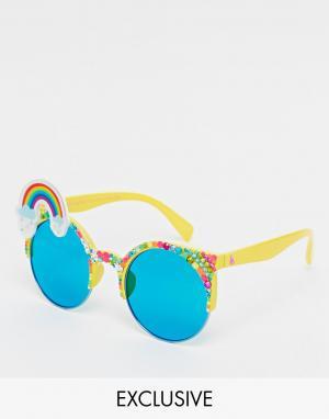 Spangled Солнцезащитные очки с радугой Brow Wow