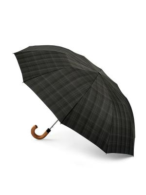 Зонт CharcoalCheck Fulton. Цвет: черный