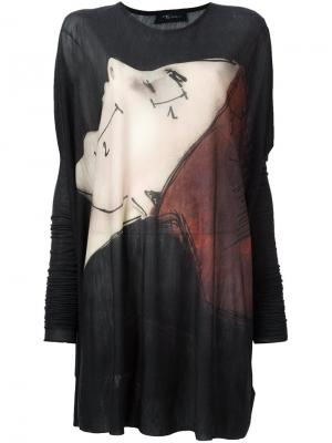 Свободная блузка Area Di Barbara Bologna. Цвет: серый