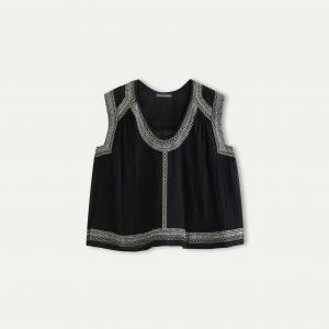 Блузка CONKA ANTIK BATIK. Цвет: черный