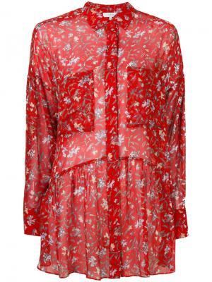 Рубашка с цветочным принтом Iro. Цвет: красный