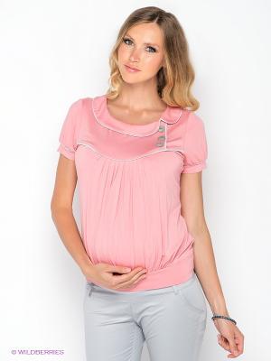 Блузка Gemko. Цвет: бледно-розовый