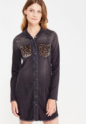 Платье джинсовое Met. Цвет: черный