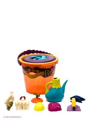 Игровой набор для песка Battat. Цвет: оранжевый, желтый, фиолетовый