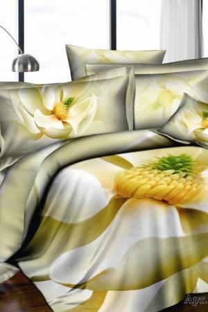 Постельное белье Евро, 4 нав. DIVA AFRODITA. Цвет: бежевый