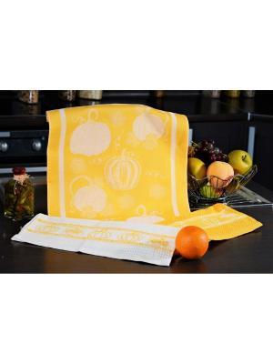 Набор кухонных полотенец ТЫКВА оранжевый (2х3шт.) 40х60 TOALLA. Цвет: оранжевый