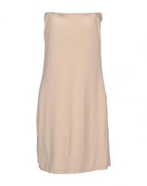 Короткое платье MANILA GRACE. Цвет: бежевый