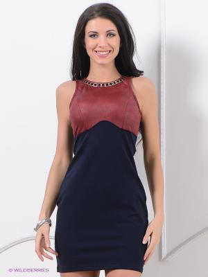 Платье ZARGA. Цвет: темно-синий, бордовый