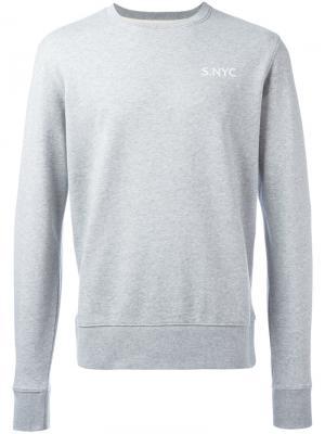 Толстовка с логотипом Saturdays Nyc. Цвет: серый