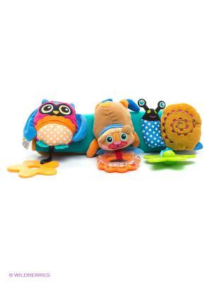 Игрушка развивающая Подвеска на коляску Oops. Цвет: бирюзовый, бежевый, зеленый