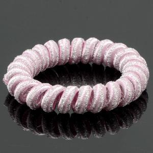 Резинка-Пружинка для волос, арт. РПВ-236 Бусики-Колечки. Цвет: розовый