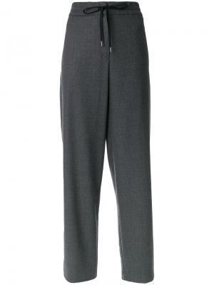 Спортивные брюки в стиле casual Odeeh. Цвет: серый