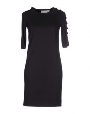 Короткое платье NORMALUISA. Цвет: темно-синий