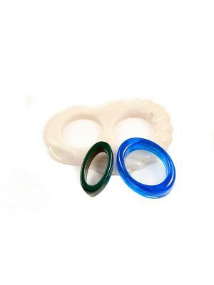 Пряжка Волшебная пуговица Ракушка и кольцо для шарфа madam Пряжкина. Цвет: лазурный, кремовый, темно-зеленый