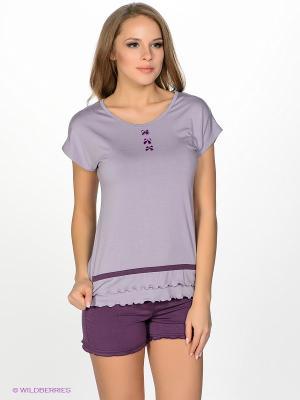 Пижама NicClub. Цвет: сиреневый, фиолетовый